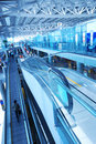 Travelator in airport Royalty Free Stock Photography
