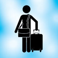 Traveler design over blue background vector illustration Royalty Free Stock Photography