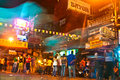 Traveler and local people have bangkok thailand dec party in the khao san road on december in bangkok thailand kao san road is the Stock Photo