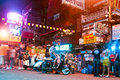 Traveler and local people have bangkok thailand dec party in the khao san road on december in bangkok thailand kao san road is the Royalty Free Stock Photography