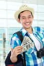Traveler with some money Stock Photos