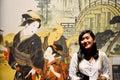Traveler thai women take photo with retro japanese image style a Royalty Free Stock Photo