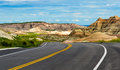 Traveling Through the Badlands of North Dakota Royalty Free Stock Photo