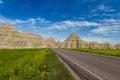 Traveling the Badlands, South Dakota Royalty Free Stock Photo
