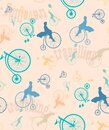 Traveling by Bicycle Royalty Free Stock Photo