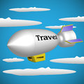Traveling blimp Royalty Free Stock Photography
