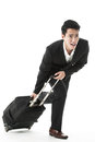 The traveling businessman in a rush Royalty Free Stock Photography