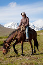 Traveling on horseback Stock Photography