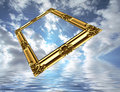 Traveling Picture Frame Royalty Free Stock Photo