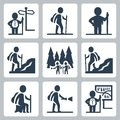 Traveller vector icons Royalty Free Stock Photo