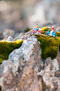 Travelling bikers miniature macro close up photo Stock Photos