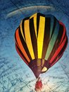 Travelling by hot air balloon Royalty Free Stock Images