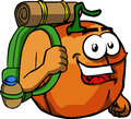 Travelling pumpkin cartoon style illustrated vector format is available Royalty Free Stock Image