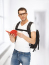 Travelling student Royalty Free Stock Photos