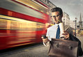 Travelling for work Royalty Free Stock Photo