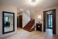 Travertine house: hallway Stock Photos