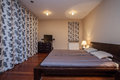 Travertine house - luxurious bedroom Royalty Free Stock Photo