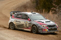 Travis Pastrana racing in Rally America Royalty Free Stock Photo
