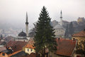 Travnik panoramic view bosnia and herzegovina Royalty Free Stock Photography