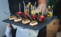 Tray of appetizers Royalty Free Stock Photo