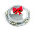 Tray dollars gift Royalty Free Stock Photography