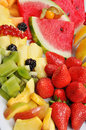 Tray of Mixed Fruit Royalty Free Stock Photo