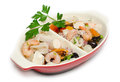 Tray of mixed seafood salad Stock Image