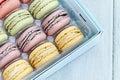 Tray of Pastel Macarons