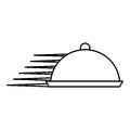 Tray server fast isolated icon