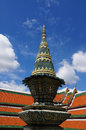 Tray for worship at the temple of emerald buddha in bangkok thailand Stock Photos