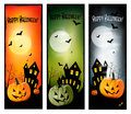 Tre bandiere di Halloween Immagine Stock