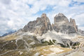 Tre Cime di Lavaredo Stock Photography