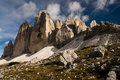 Tre cime di Lavaredo Stock Photo