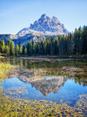 Tre cime di lavaredo at the dolomiti mountains in italy Royalty Free Stock Image