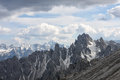 Tre cime di lavaredo mountains around dolomites italy Stock Image