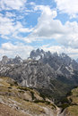 Tre cime di lavaredo mountains around dolomites italy Royalty Free Stock Image