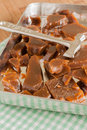 Treacle toffee a hard brittle made with or molasses Stock Photos
