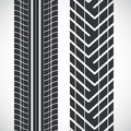 Tread pattern tyre vector set of detailed tire prints Stock Photo