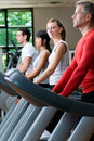 Treadmill exercises at gym Royalty Free Stock Images