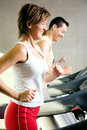 Treadmill exercising Stock Photos