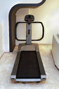 Treadmill modern machine inside home gym interior Stock Photography