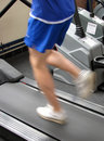 Treadmill runner Royalty Free Stock Images