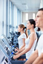 On treadmills Royalty Free Stock Image