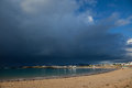 Trearddur Bay Storm Clouds Stock Photography