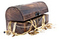 Treasure box with old jewelry Royalty Free Stock Photo