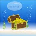 Treasure box underwater