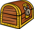 Treasure chest clip art cartoon illustration of Royalty Free Stock Photos