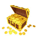 Treasure chest this image is rendered by d content creation tools Stock Photography