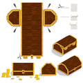 Treasure chest packaging box design home made wooden Stock Images