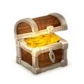 Treasure Chest, Vector Illustr...